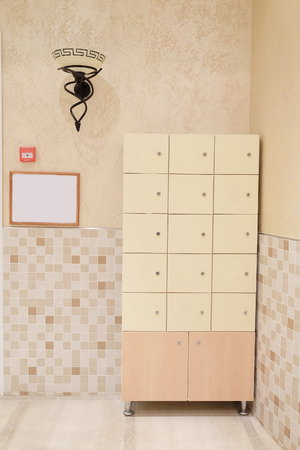 checkroom: The image of a lockers