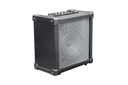 guitar amplifier: Guitar amplifier isolated under the white background Stock Photo