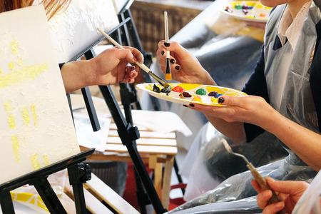 Master class on painting Stock fotó