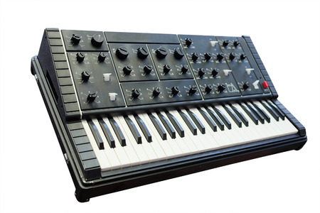 synthesizer under the white background Stock Photo