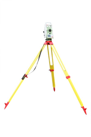 geodetic: Theodolite isolated on a white background