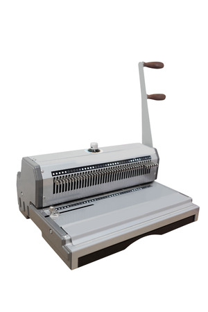 stitching machine: The image of a bookbinding machine. Stitcher Stock Photo