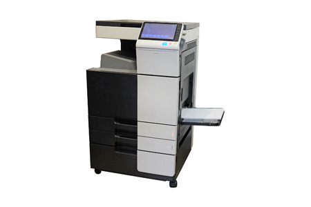 multifunction: Multifunction printer isolated on white background