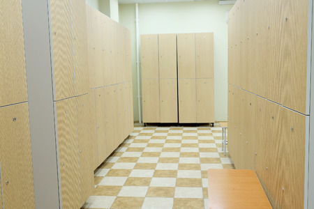 closed club: Interior is modern locker rooms