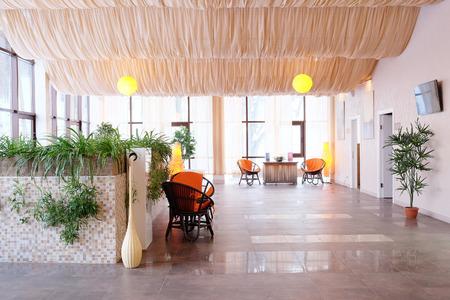salon and spa: Interior of spa salon waiting room Editorial