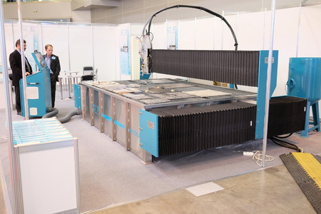 image of a laser cutting