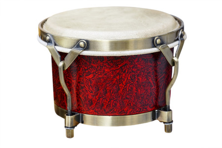 bongos: Latin percussion, Bongos isolate on white background Stock Photo