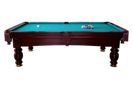 billiards room: Green billiard table