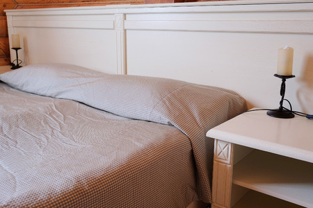 counterpane: Bedroom in a country house Editorial