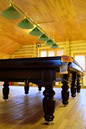 billiards halls: Pool table
