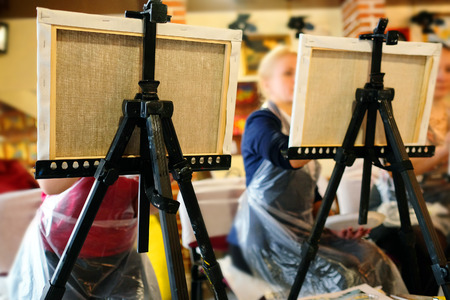 easel: Easel in the studio