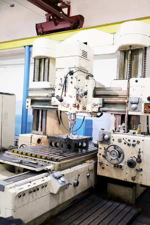 The image of a metalworking machine Editorial