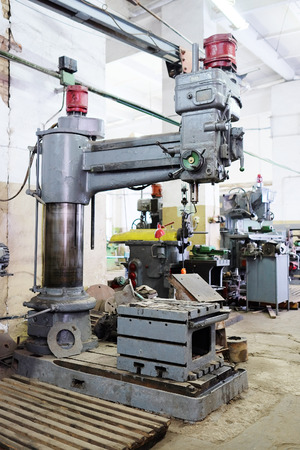 metallurgical: Machine for metal in the metallurgical shop Stock Photo