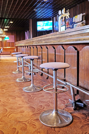 closed club: Chairs in row in bar