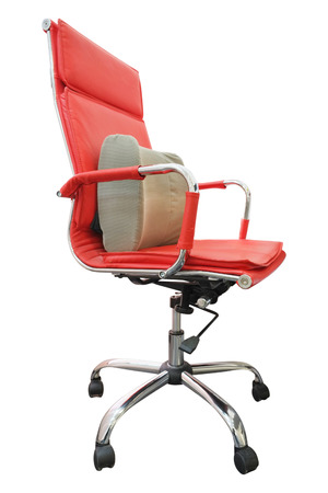 swivel chairs: Office red chair