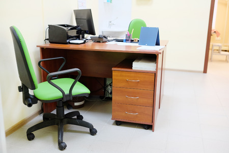 blood pressure unit: Doctor office interior Stock Photo
