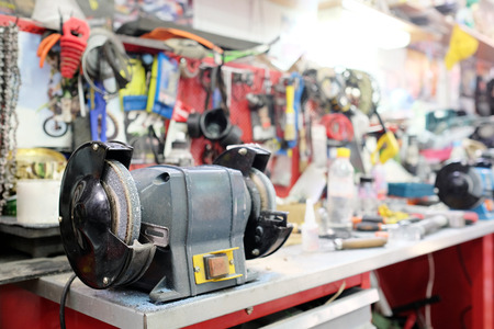 grinder machine: Closeup grinder machine Stock Photo
