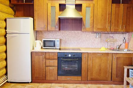 Classic brown kitchen interior photo