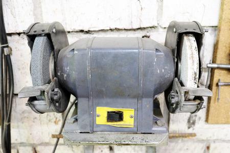 molinillo: Amoladora de banco Foto de archivo