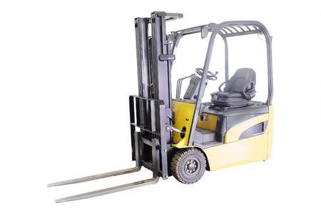 stacker: Forklift loader pallet stacker truck equipment at warehouse