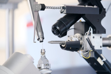x ray equipment: Equipment for conducting experiments in laboratory. X - ray diffractometer Stock Photo