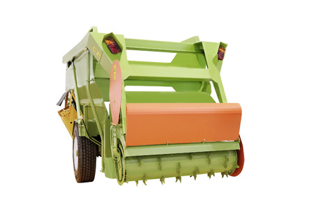 agricultural implements: Feed mixer agricultural machine isolated under the white background Stock Photo