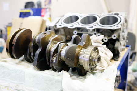 crankshaft: Engine crankshaft Stock Photo