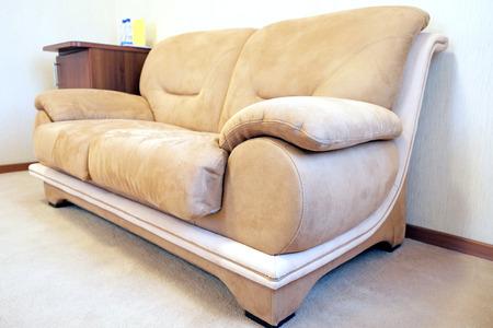 Beige sofa photo