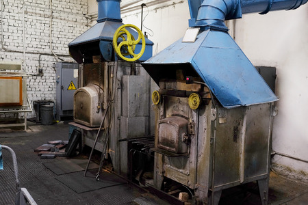 The image of a industrial furnace Stock Photo