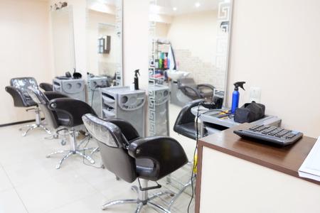salon: Iinterior of a beauty salon Stock Photo
