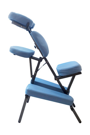 massage: Blue massage chair