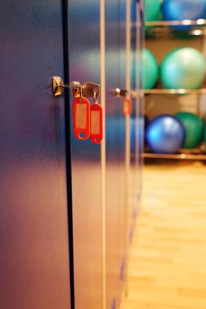 checkroom: Locker room doors with keys