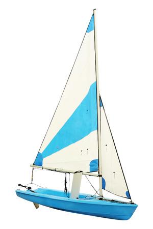 sailboat: Sailing ships under the white background