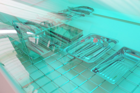 Sterilization of dental appliances Stock Photo