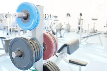kilos: Barbel weights in gym
