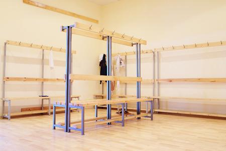 Locker room in the gym