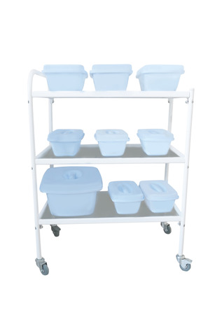 emergency cart: The image of medical trolley