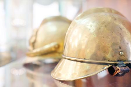 showpiece: Closeup old helmet for fireman
