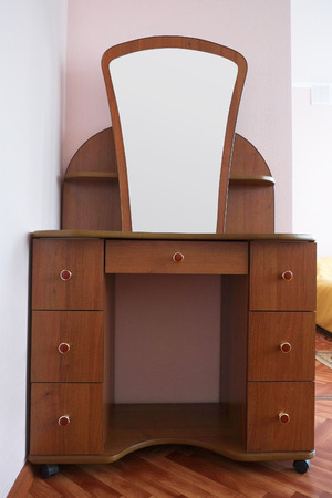 Dressing Table With Mirror Photo