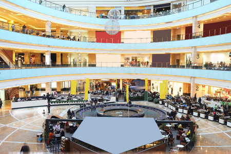 afimall: RUSSIA, MOSCOW - MARCH 19, 2015: Shopping center Afimall City