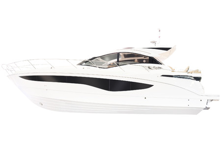 yacht isolated: Yacht isolated on a white background Stock Photo