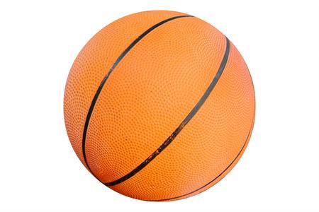 Closeup basketball on the floor photo