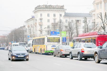 jams: Tula, Russia, March, 30, 2015: traffic jams in Tula, Russia