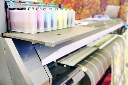 digital printer: The image of a professional printing machine