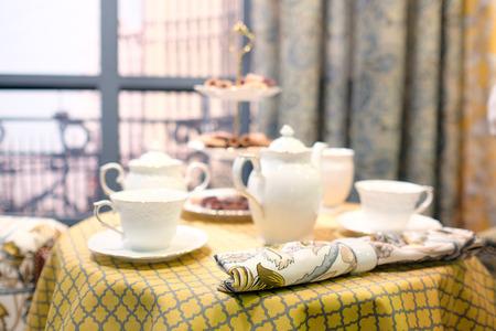 tea service: Beautiful tea service on the table