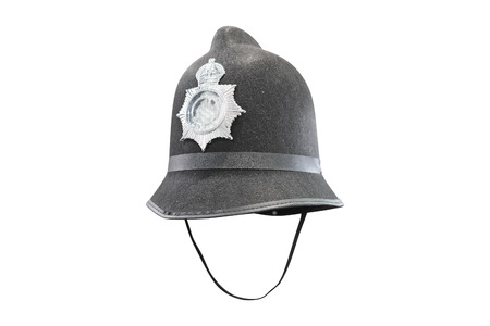 constable: Traditional British Policeman helmet Stock Photo