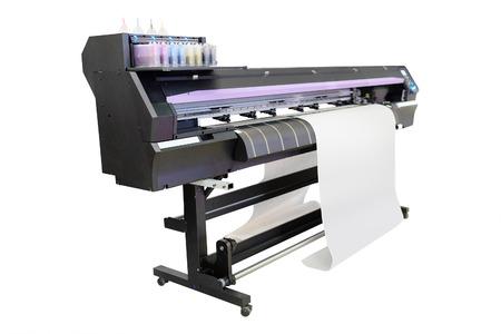 Het beeld van een professionele drukmachine Stockfoto