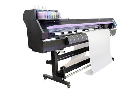 digital paint: The image of a professional printing machine