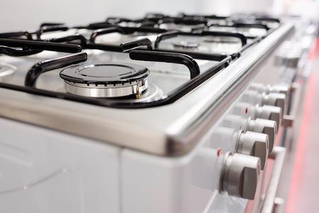 estufa: Cierre de la imagen de la estufa de gas Foto de archivo