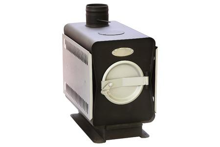 Heating furnace under the white background photo
